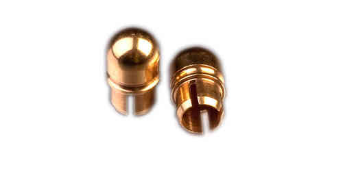 Gold plated inserts for stimulation electrode