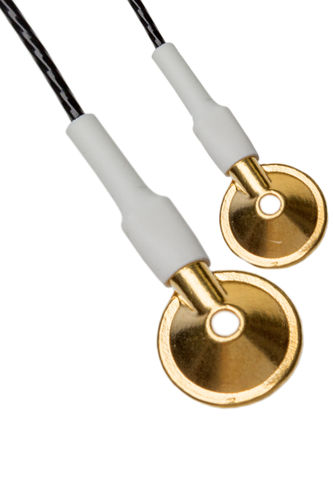 Gold Cup electrode with Teflon- or Silicone cable